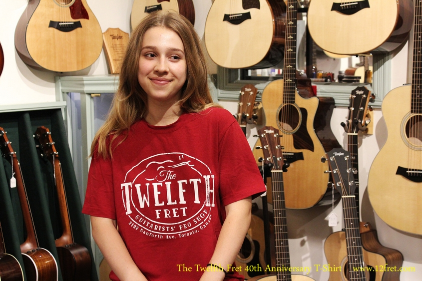 The Twelfth Fret 40th Anniversary T-Shirt Front View
