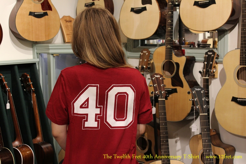 The Twelfth Fret 40th Anniversary T-Shirt Rear View