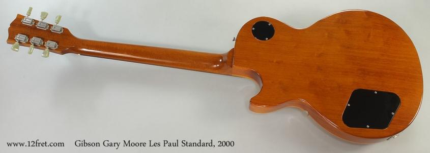 Gibson Gary Moore Les Paul Standard, 2000 Full Rear VIew