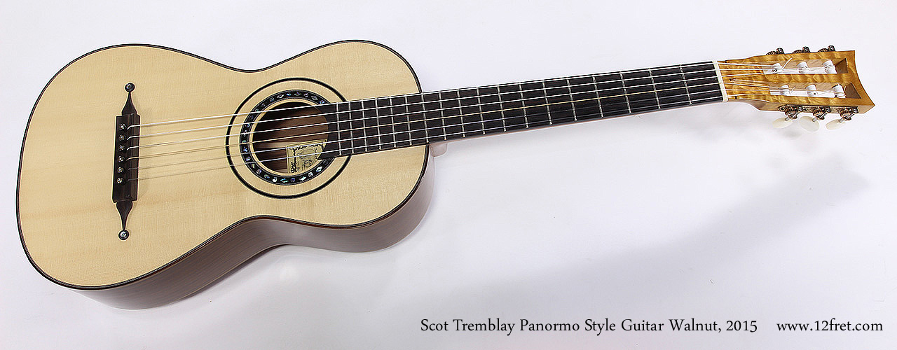 Scot Tremblay Panormo Style Guitar Walnut, 2015 Full Front View