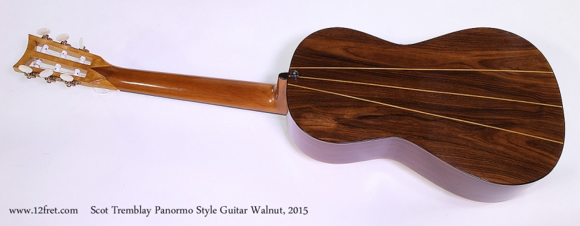 Scot Tremblay Panormo Style Guitar Walnut, 2015 Full Rear View