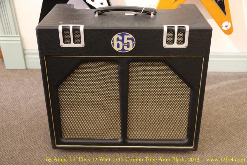 65 Amps Lil' Elvis 12 Watt 1x12 Combo Tube Amp Black, 2013  Full Front View