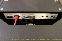 65 Amps Lil' Elvis 12 Watt 1x12 Combo Tube Amp Black, 2013  Rear Panel View