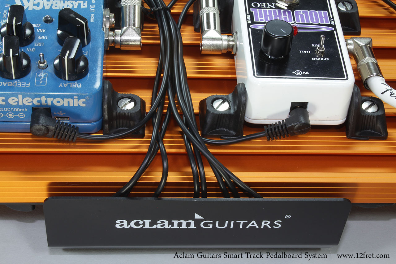 Aclam Guitars Smart Track Pedalboard System Power Distribution and Pedal Mount