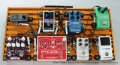 Aclam Guitars Smart Track Pedalboard System Top View, Loaded with Pedals