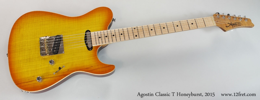Agostin Classic T Honeyburst, 2015 Full Front View