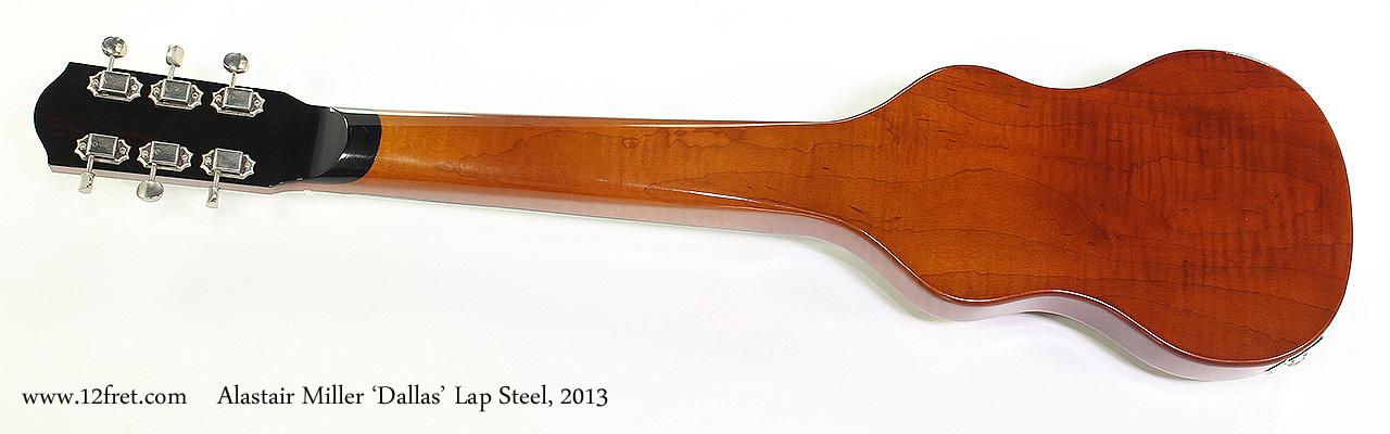 Alastair Miller 'Dallas' Lap Steel, 2013 Full Rear View