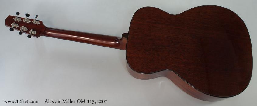 Alastair Miller OM 115, 2007 Full Rear View