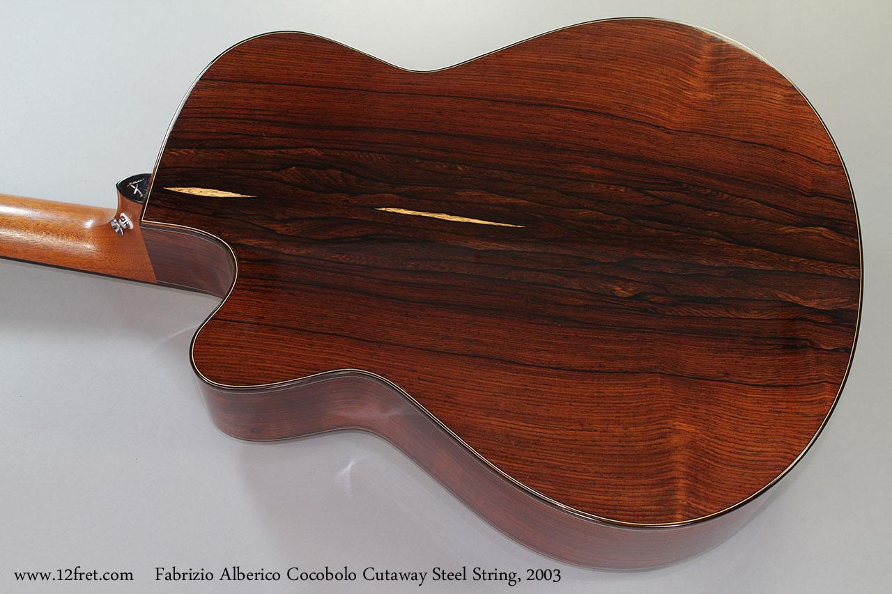 Fabrizio Alberico Cocobolo Cutaway Steel String, 2003 Back