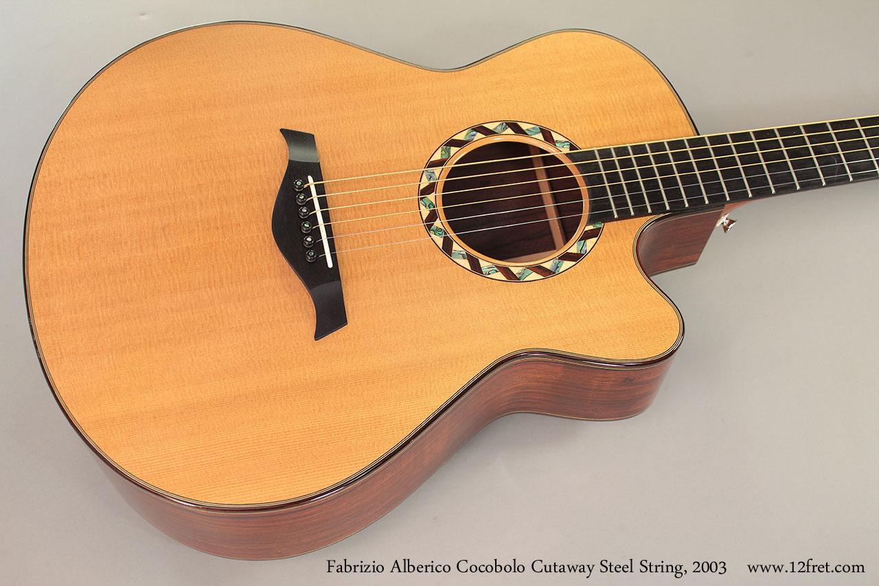 Fabrizio Alberico Cocobolo Cutaway Steel String, 2003 Top