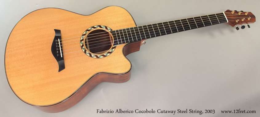 Fabrizio Alberico Cocobolo Cutaway Steel String, 2003 Full Front View