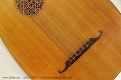 Albert J Litto 7 Course Renaissance Lute, 1965 Bridge View