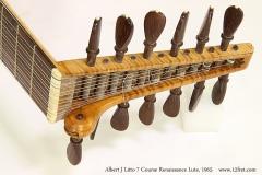 Albert J Litto 7 Course Renaissance Lute, 1965 Head Bass Side View