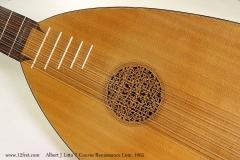 Albert J Litto 7 Course Renaissance Lute, 1965 Rose View