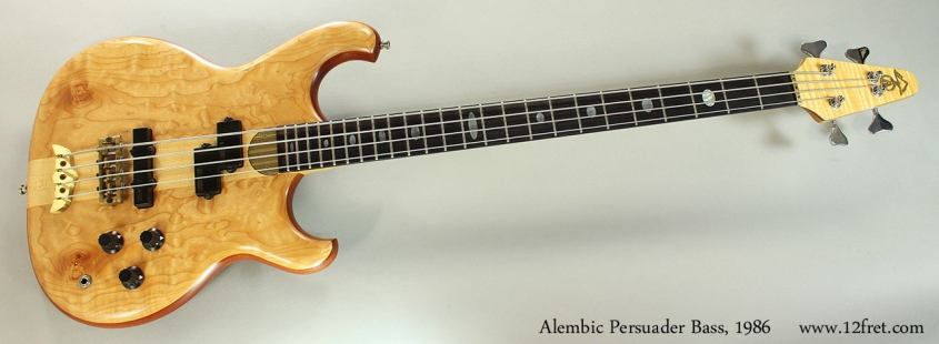 Alembic Persuader Bass, 1986 Full Front View