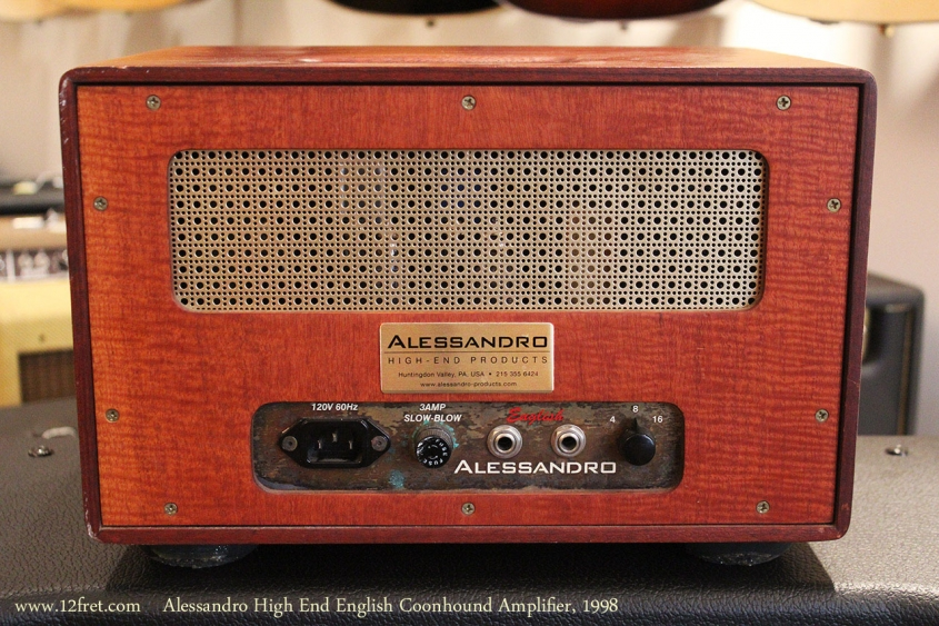 Alessandro High End English Coonhound Amplifier, 1998 Full Rear View