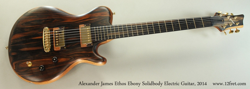 Alexander James Ethos Ebony Solidbody Electric Guitar, 2014 Full Front View