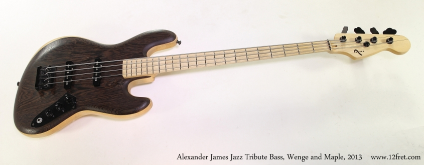 Alexander James Jazz Tribute Bass, Wenge and Maple, 2013  Full Front View