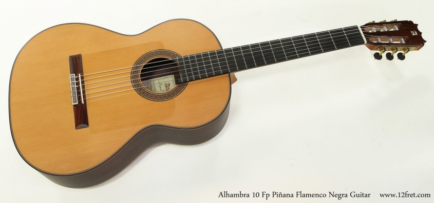 Alhambra 10 Fp Pinana Flamenco Negra Guitar Full Front VIew
