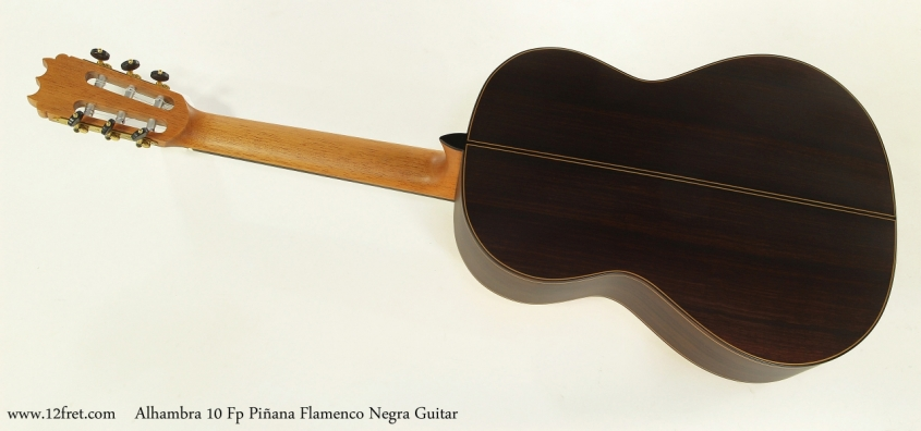 Alhambra 10 Fp Pinana Flamenco Negra Guitar Full Rear VIew