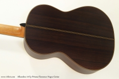 Alhambra 10 Fp Pinana Flamenco Negra Guitar Back View