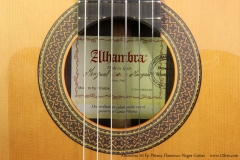 Alhambra 10 Fp Pinana Flamenco Negra Guitar Label View