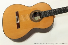Alhambra 10 Fp Pinana Flamenco Negra Guitar Top View