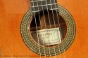 Alhambra Model 10p Cedar Classical Guitar 2008 label