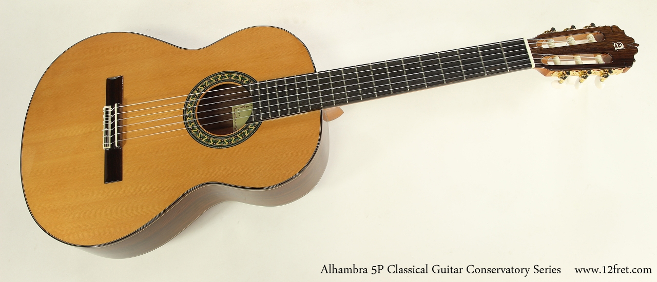Alhambra 5P Classical Guitar Conservatory Series   Full Front View
