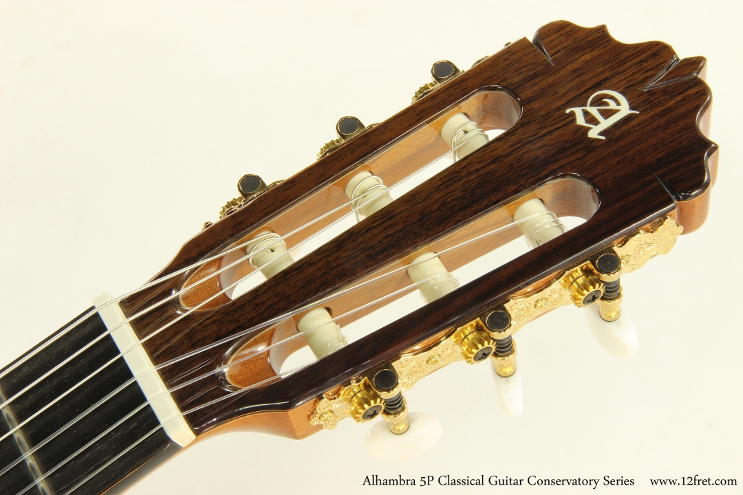 Alhambra 5P Classical Guitar Conservatory Series   Head Front View