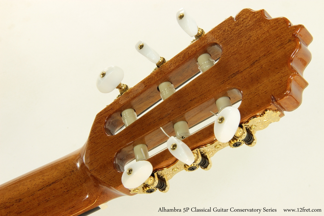 Alhambra 5P Classical Guitar Conservatory Series   Head Rear View