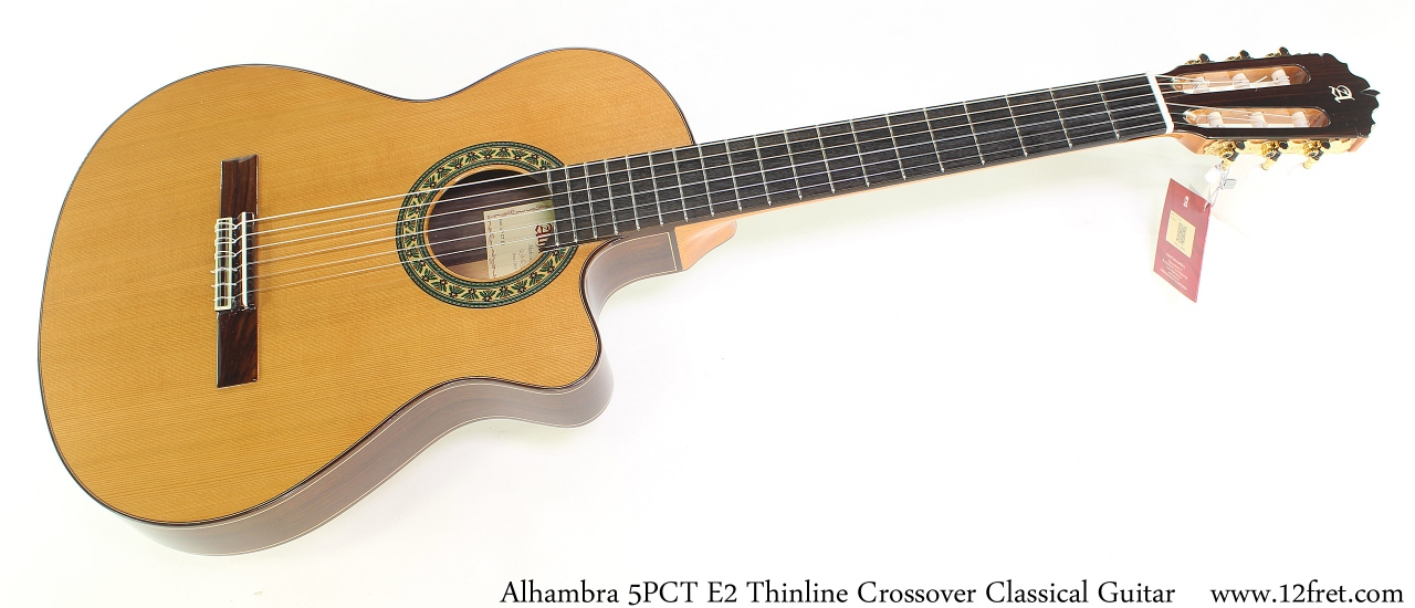 Alhambra 5PCT E2 Thinline Crossover Classical Guitar Full Front View