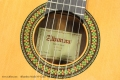 Alhambra Model 7P Cedar Top Classical Guitar Label View