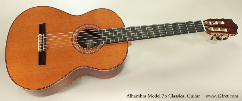 Alhambra Model 7p Classical Guitar Full Front View