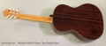 Alhambra Model 7P Spruce Top Classical Guitar Full Rear View