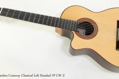 Alhambra Cutaway Classical Left Handed 7P CW Z   Full Front View