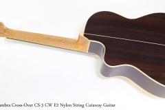 Alhambra Cross-Over CS-3 CW E2 Nylon String Cutaway Guitar  Full Rear View