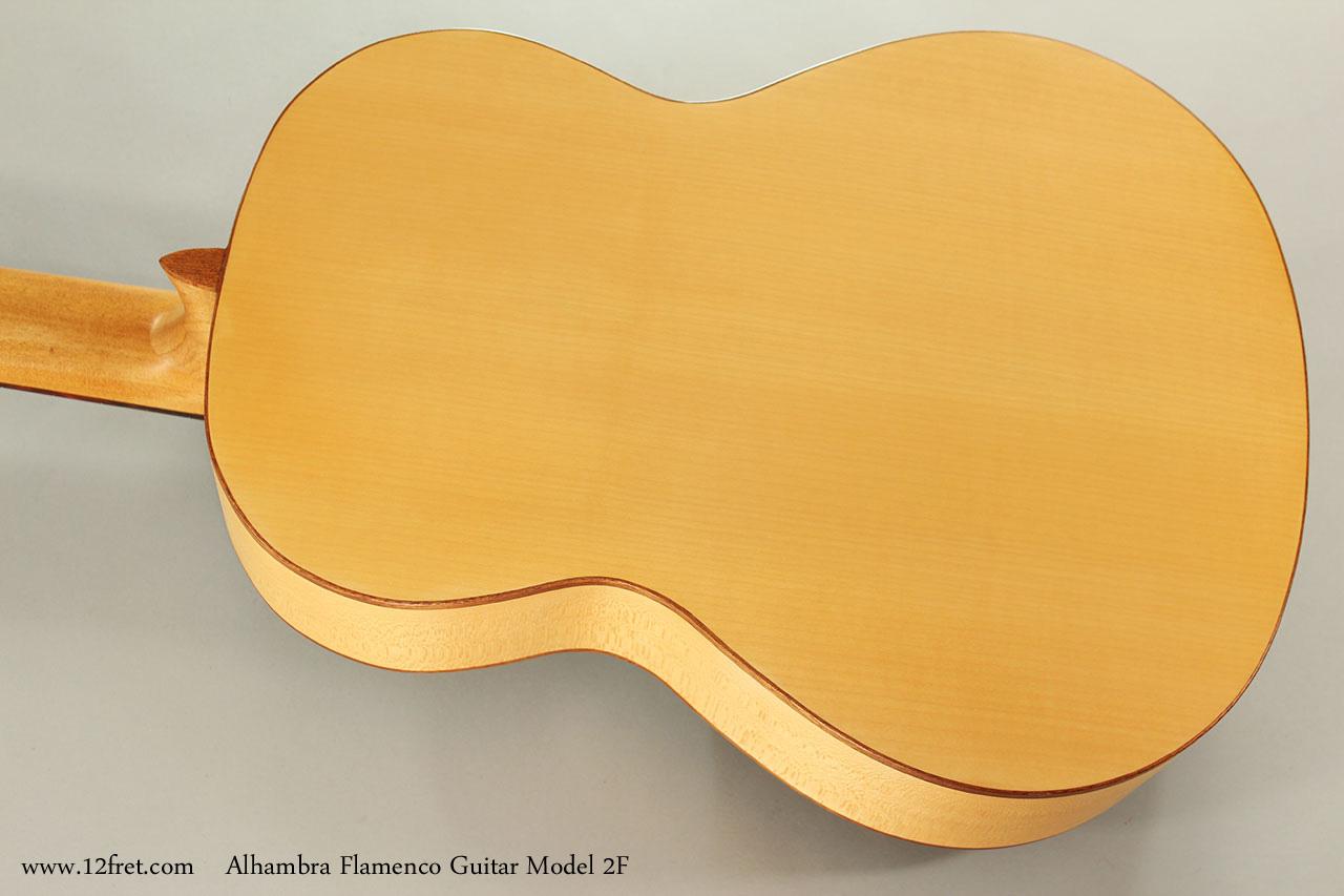 Alhambra Flamenco Guitar Model 2F Rear View