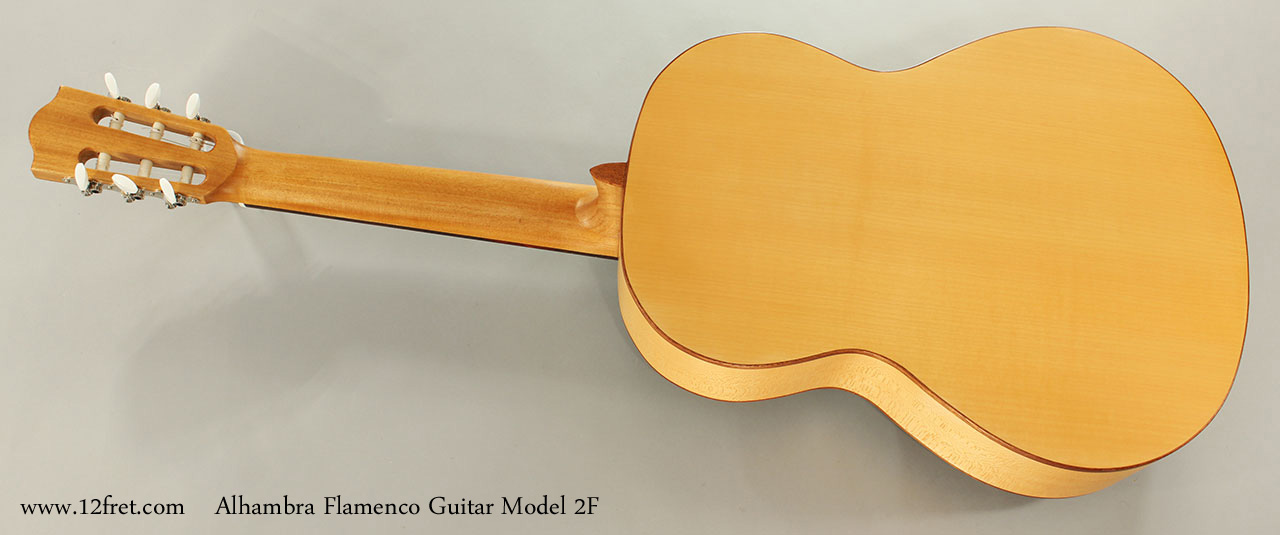 Alhambra Flamenco Guitar Model 2F Full Rear View