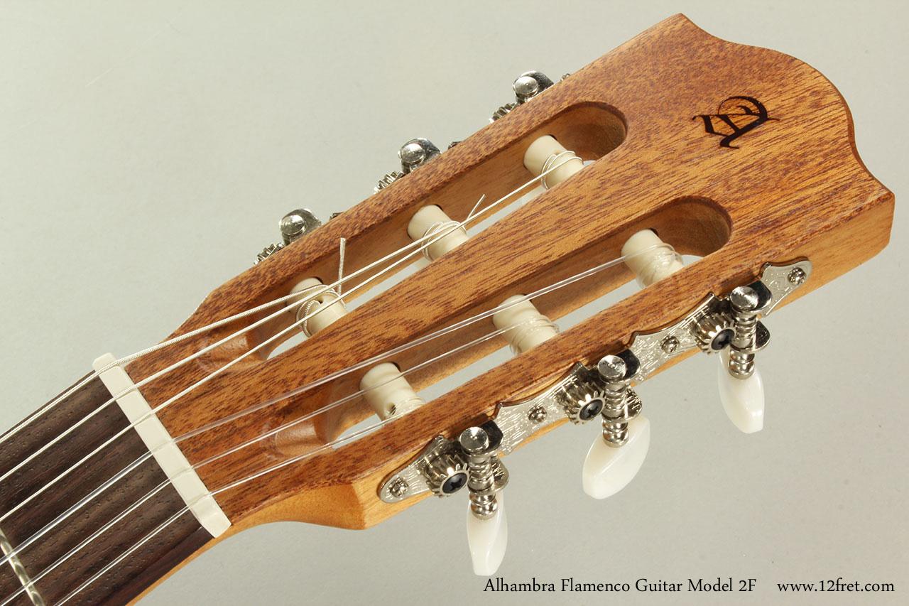 Alhambra Flamenco Guitar Model 2F Head Front View