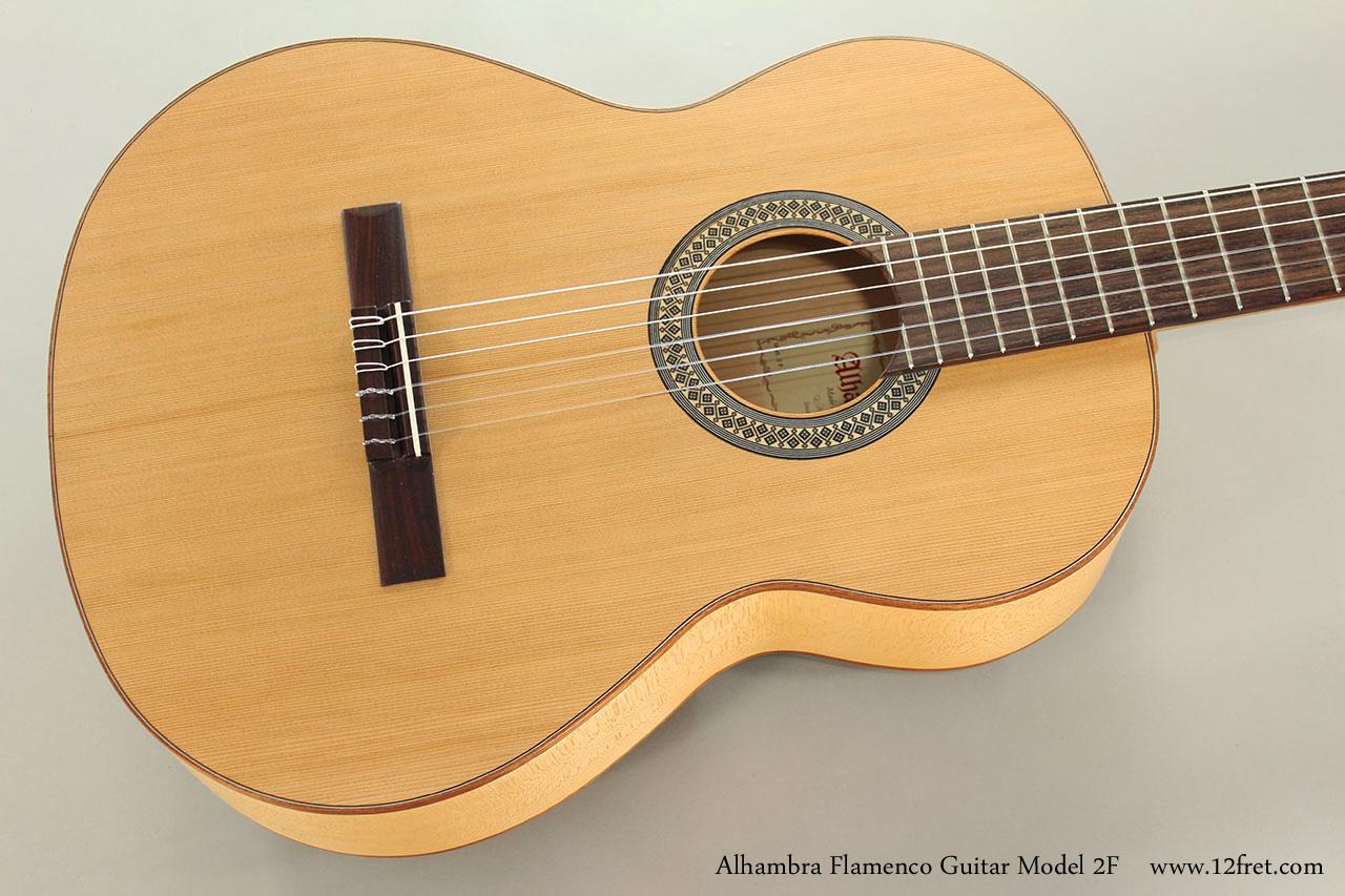 Alhambra Flamenco Guitar Model 2F Top View