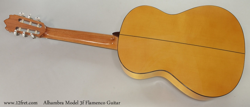 Alhambra Model 3f Flamenco Guitar Full Rear View