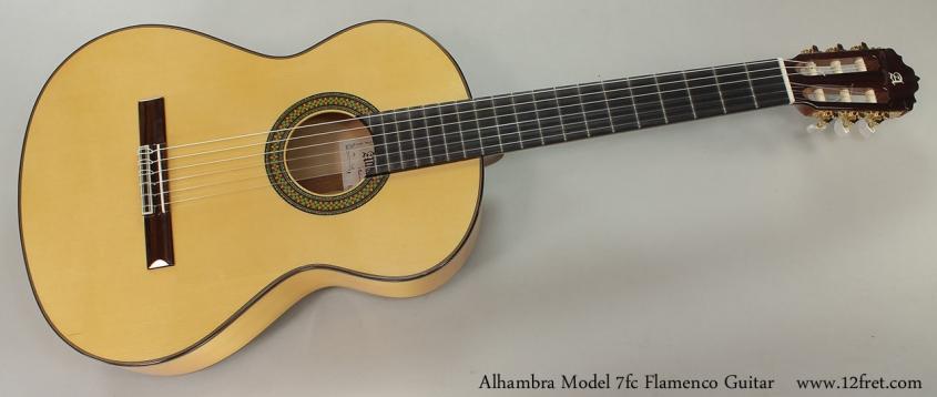 Alhambra Model 7fc Flamenco Guitar Full Front View