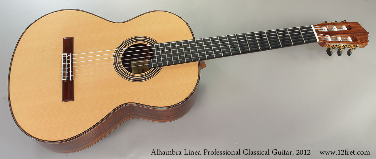Alhambra Linea Profesional Classical Guitar, 2012 Full Front View