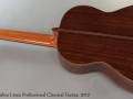 Alhambra Linea Profesional Classical Guitar, 2012 Full Rear View