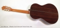 Alhambra Linea Professional Classical Guitar, 2013 Full Rear View