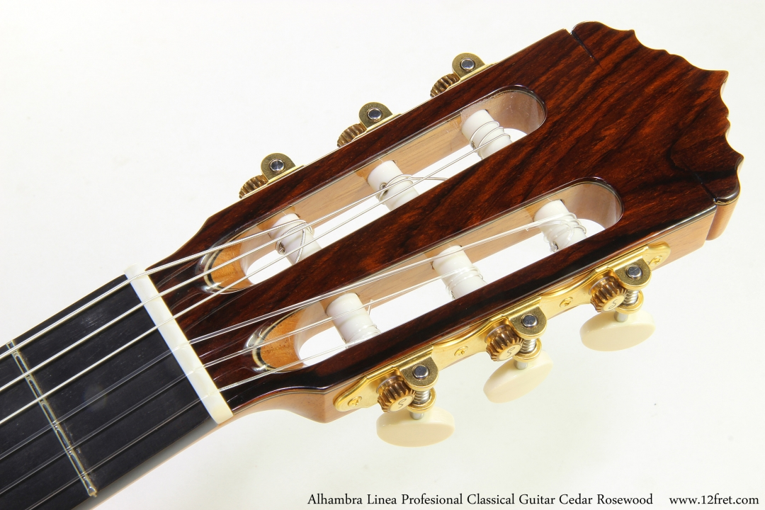 Alhambra Linea Profesional Classical Guitar Cedar Rosewood   Head Front View