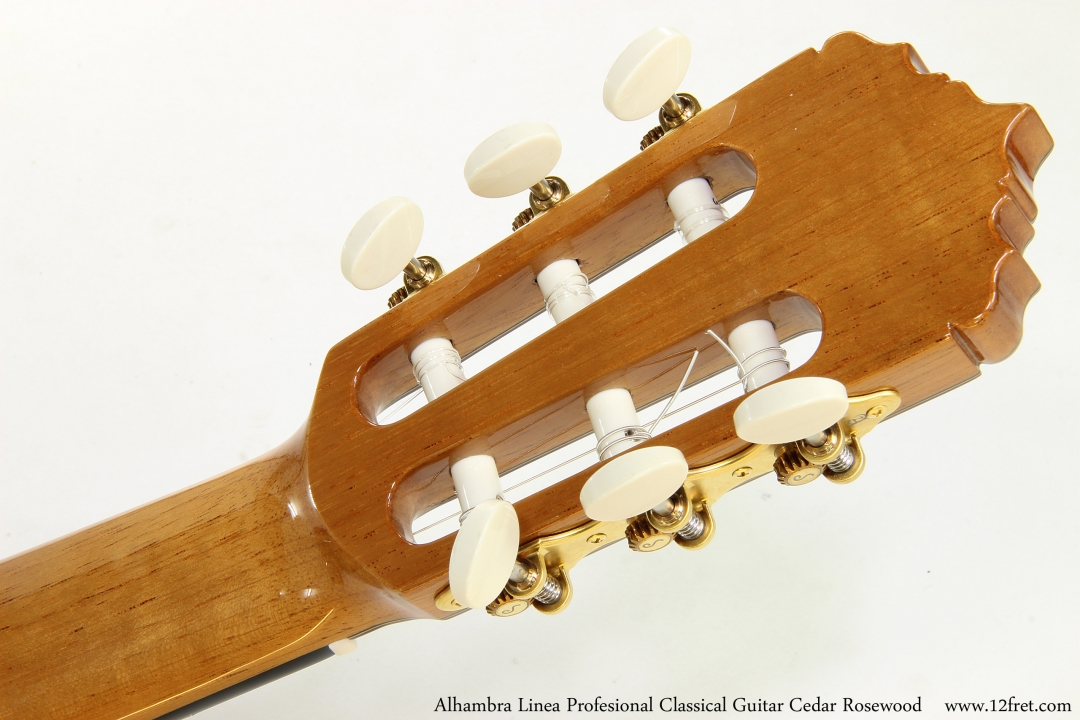 Alhambra Linea Profesional Classical Guitar Cedar Rosewood   Head Rear View