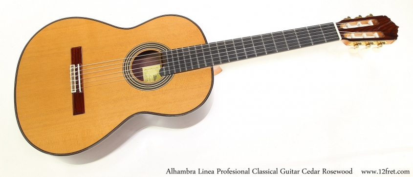 Alhambra Linea Profesional Classical Guitar Cedar Rosewood   Full Front View