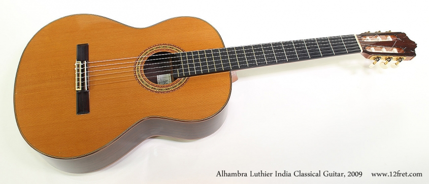 Alhambra Luthier India Classical Guitar, 2009 Full Front View
